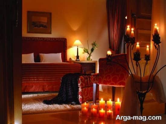تزیین زیبا و جالب اتاق خواب با شمع
