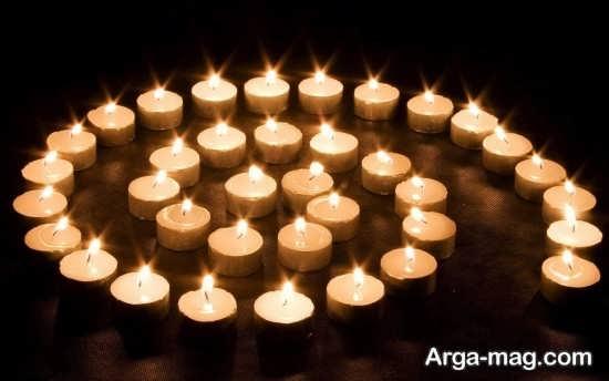 تزیین اتاق خواب زیبا با شمع