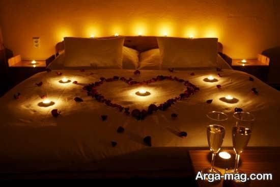 شمع آرایی اتاق خواب دو نفره