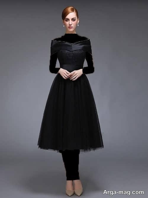 مدل لباس شب مشکی ساده