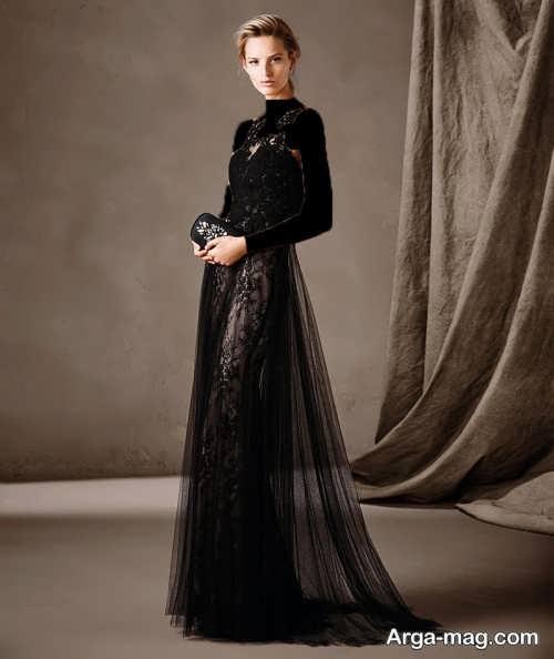 مدل لباس شب کار شده زنانه
