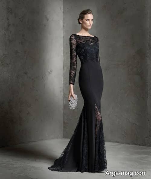 لباس شب کار شده با گیپور