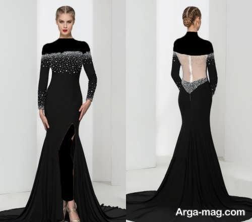 مدل لباس شب زنانه کار شده و شیک
