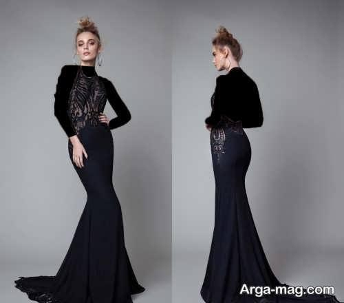 مدل لباس شب مشکی زنانه