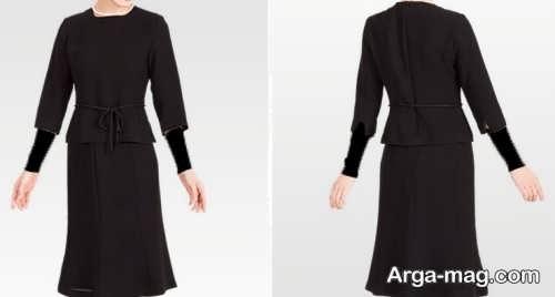 مدل لباس مشکی عزاداری در طرح بلند