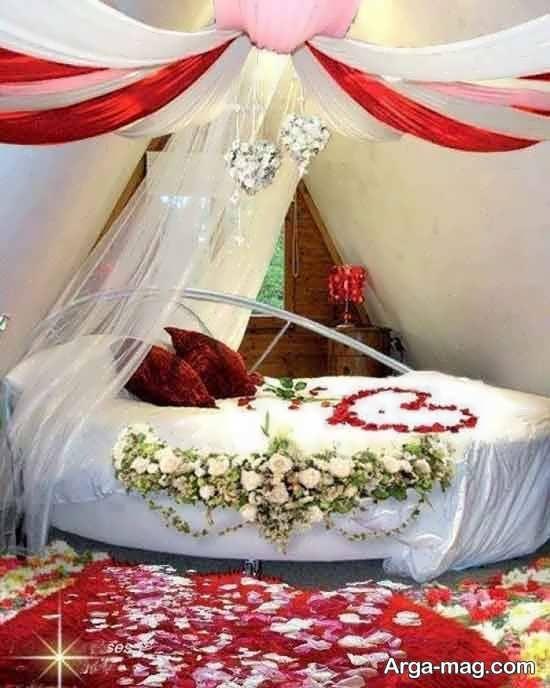 تزیین اتاق عروس با تور