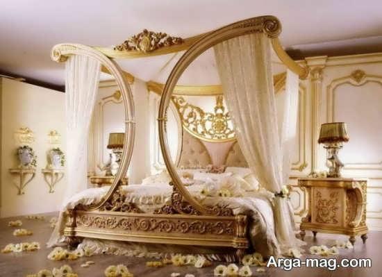 تزیین اتاق خواب شیک عروس