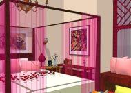 ایده هایی برای تزیین اتاق عروس با تور