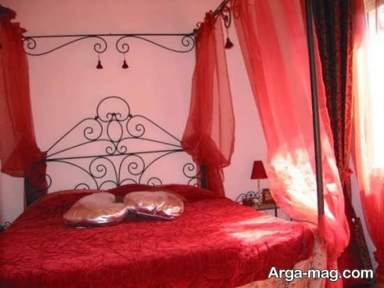 تزیین اتاق عروس با تور قرمز