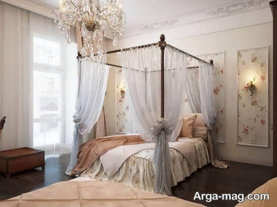 تزیین اتاق عروس با تور سفید و شیک