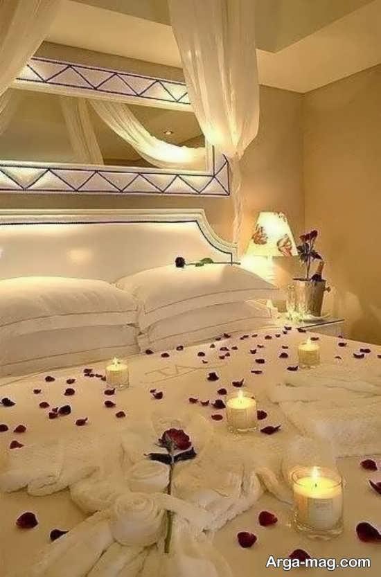 تزیین اتاق عروس با تور و شمع