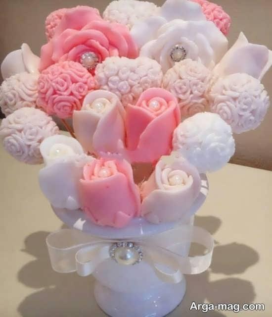 تزیین صابون به شکل گل