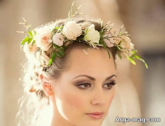 مدل تاج گل عروس زیبا و شیک