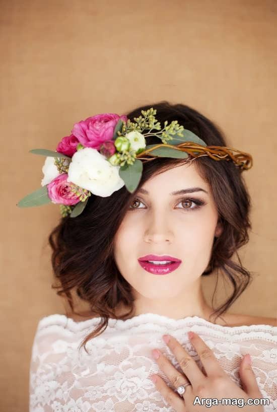 مدل تاج گل زیبا و جذاب عروس