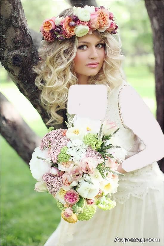 مدل تاج گل فانتزی عروس
