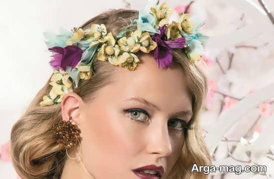 مدل تاج گل طبیعی عروس