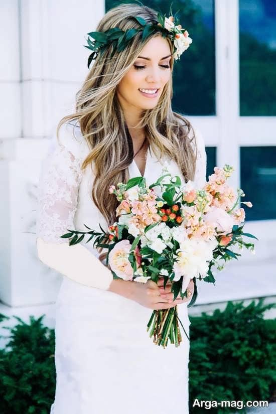 تاج گل طبیعی عروس