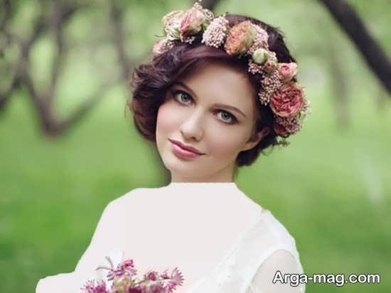 تاج گل عروس شیک و زیبا