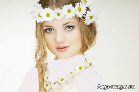 مدل تاج گل سفید عروس