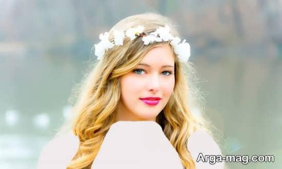 مدل تاج گل عروس زیبا و ساده عروس