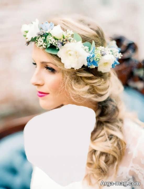مدل تاج گل زیبا و خاص عروس