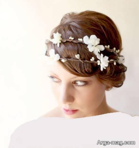 مدل تاج گل عروس ساده و زیبا