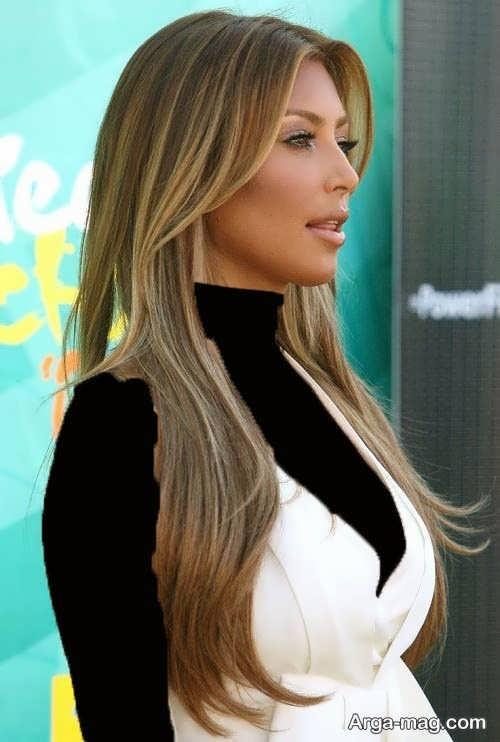 رنگ موی زیبا کاراملی