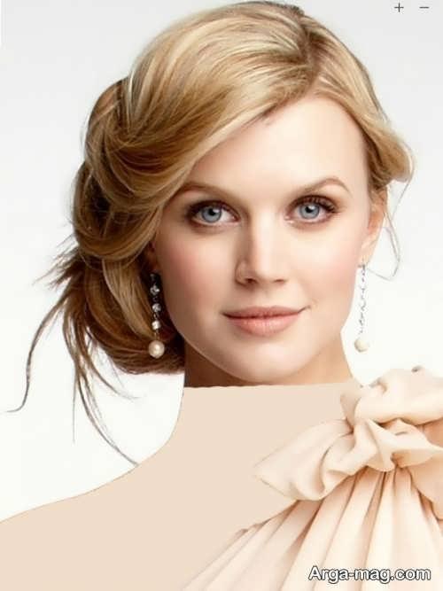 مدل آرایش موی خاص و زیبا برای صورت گرد