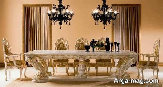 میز ناهار خوری سلطنتی زیبا