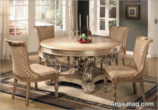 مدل میز ناهارخوری کلاسیک و سلطنتی