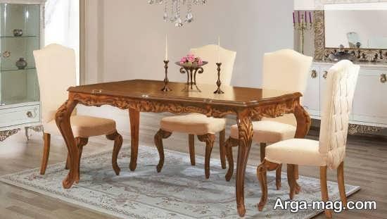 مدل میز ناهار خوری کلاسیک سلطنتی