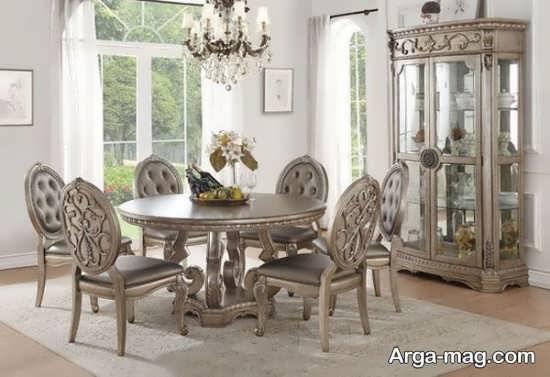 مدلی از میز ناهار خوری کلاسیک