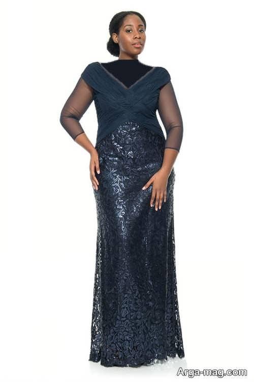 مدل لباس مجلسی بلند و شیک برای خانم های میانسال