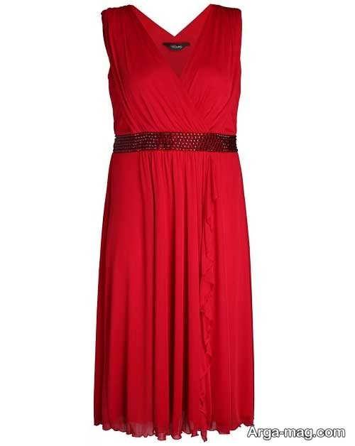 مدل لباس مجلسی قرمز برای خانم های میانسال