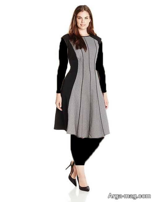 مدل لباس مجلسی مشکی و خاکستری
