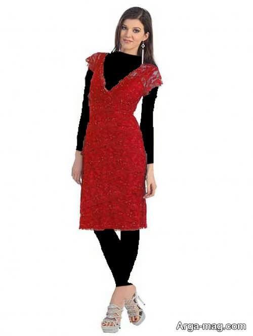مدل لباس مجلسی گیپور ساده