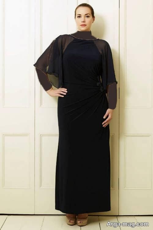 مدل لباس مجلسی مشکی برای خانم های میانسال