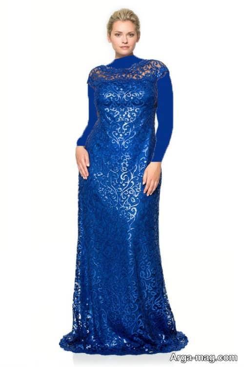 مدل لباس مجلسی گیپور برای خانم های میانسال