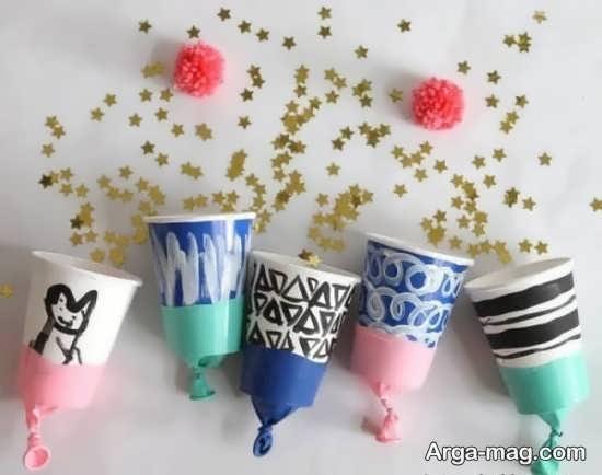 خلاقیت زیبا با لیوان کاغذی