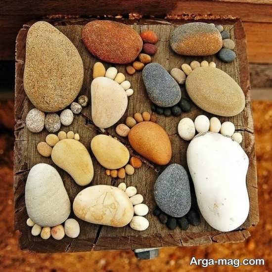 ساخت کاردستی های زیبا با سنگ