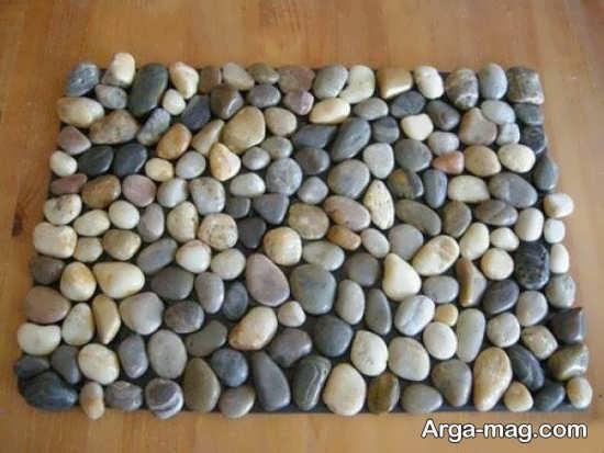 ساخت کاردستی زیبا و شیک با سنگ