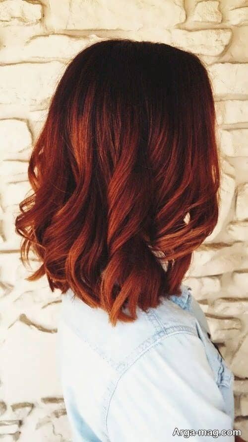 رنگ موی خاص و زیبا مسی