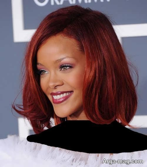مدل رنگ موی زیبا و خاص مسی