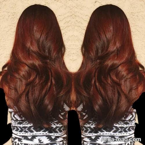 مدل رنگ موی مسی تیره دخترانه