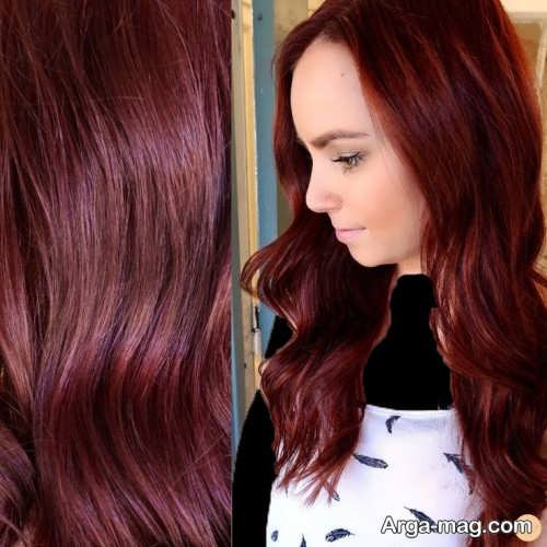 مدل رنگ موی زنانه مسی تیره