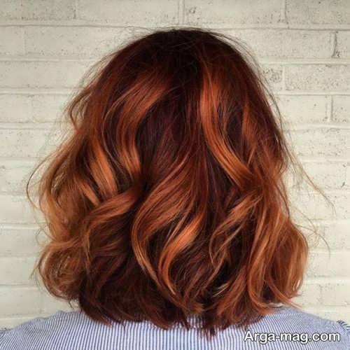 رنگ موی زیبا و جذاب مسی