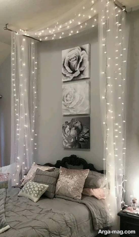 تزیین اتاق عروس با تور اکلیلی