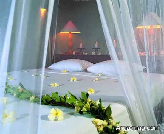 تزیینات اتاق عروس با تور