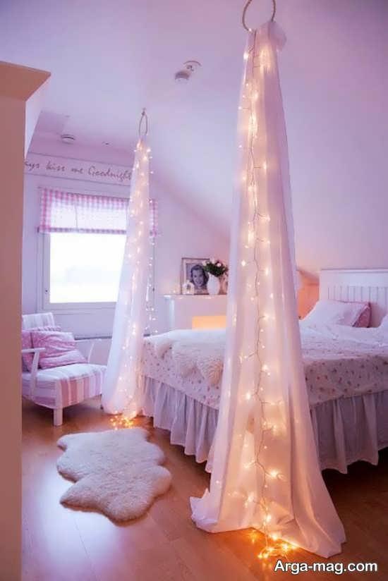 مدل تزیینات اتاق عروس با تور