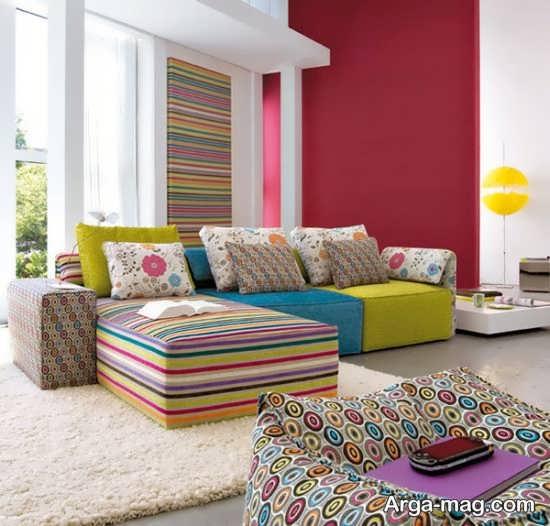 تزیین مدرن اتاق نشیمن